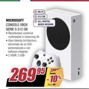 Console Microsoft Xbox Series S Standard a 269,25 euro