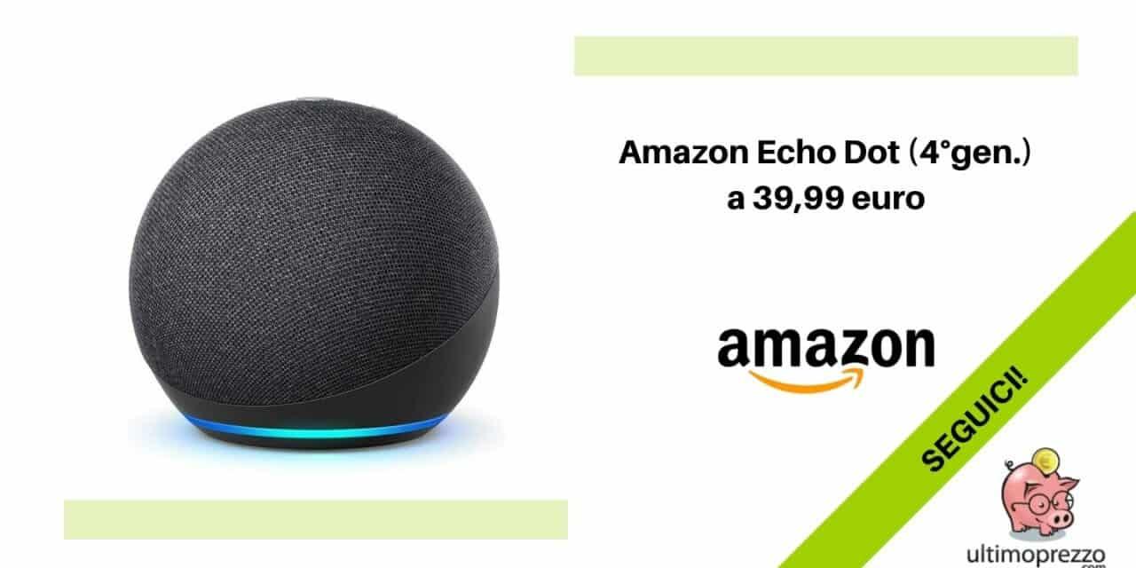 Amazon Echo Dot (4ª generazione) in offerta a 39,99 euro dal 24 settembre al 30 (indicativo)