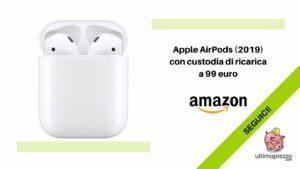 Apple AirPods 2019 offerta Amazon 21 settembre 2021
