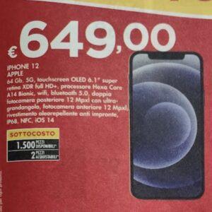 Apple iPhone 12 64GB in offerta sottocosto a 649 euro, miglior prezzo di sempre!
