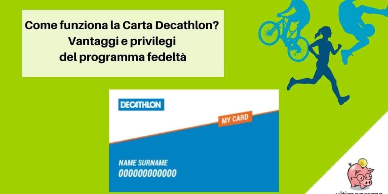 Carta Decathlon: come funziona la carta fedeltà di decathlon? punti, buoni spesa e vantaggi