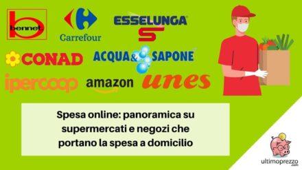 Spesa online da Esselunga, Bennet, Ipercoop, Carrefour, Acqua&Sapone e altri: una panoramica su supermercati e negozi che portano la spesa a domicilio