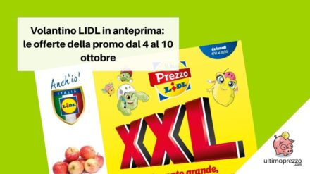 Nuovo volantino LIDL in anteprima: le offerte XXL dal 4 al 10 ottobre