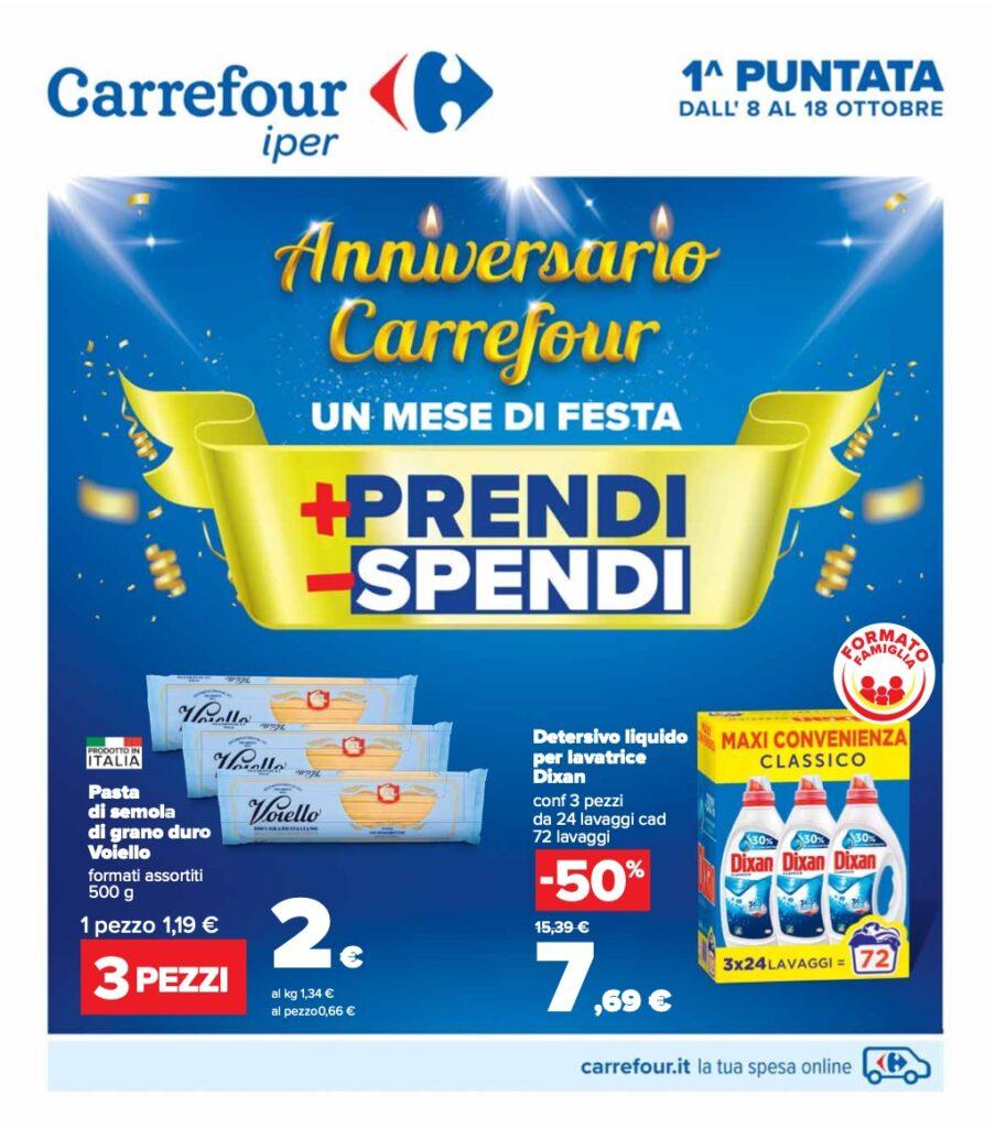 Volantino Carrefour 8 ottobre 2021 pagina 01