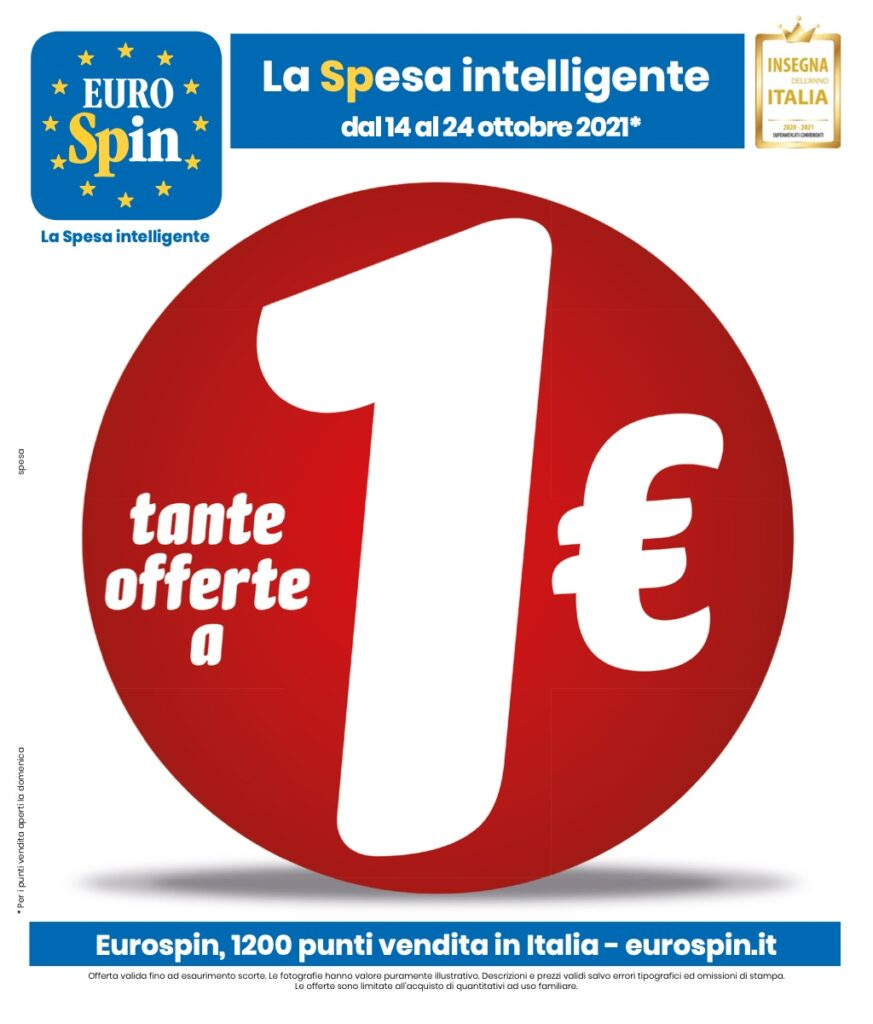 Volantino Eurospin 14 ottobre 2021 pagina 01