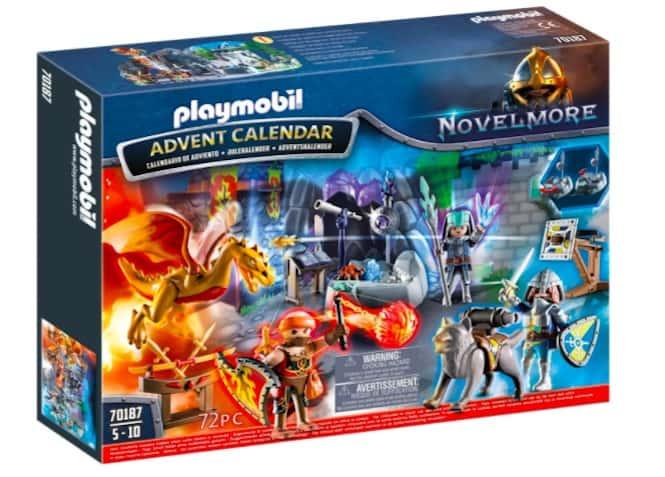 calendario avvento playmobil la battaglia dei cavalieri