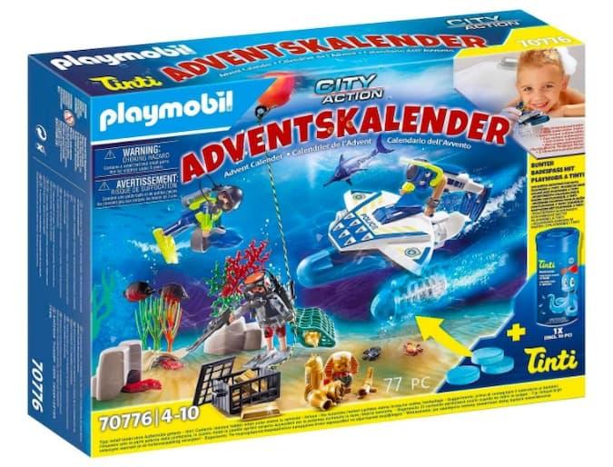 calendario avvento playmobil missione bagno colorato polizia
