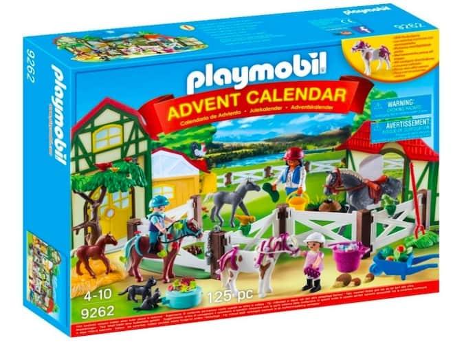 calendario avvento playmobil un giorno al maneggio