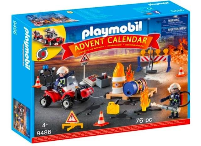 calendario avvento playmobil vigili del fuoco in azione